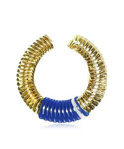 Pluma | Blue And White Fishbone Necklace