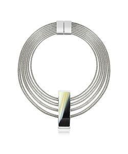 Pluma | Fumoso Black Four Strand Necklace