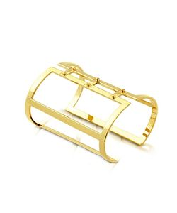Pluma | Brass Open Viti Cuff In Fumoso