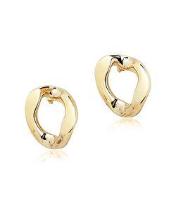Pluma | En Brass Link Earrings
