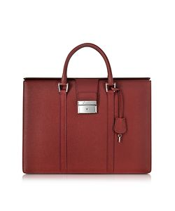 Pineider | City Chic Embossed Leather Briefcase