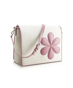Pineider | Pink Flower Messenger Changing Bag