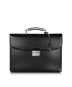 Pineider | Optical And White Leather Briefcase