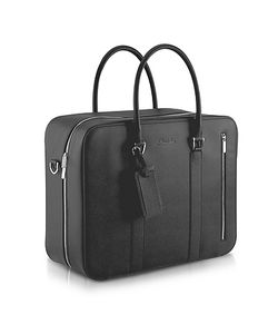 Pineider | City Chic Double Handle Calfskin Briefcase