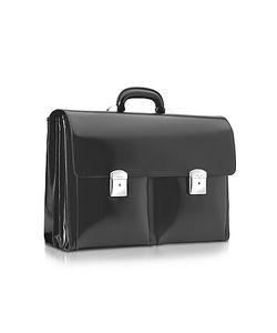 Pineider | 1949 Calfskin Triple Gusset Briefcase