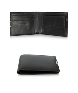 Pineider | 1949 Leather Mens Wallet W/Coin Pocket