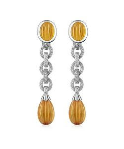 Roma Imperiale | Carved Gemstone 18k Gold And Diamond Drop Earrings
