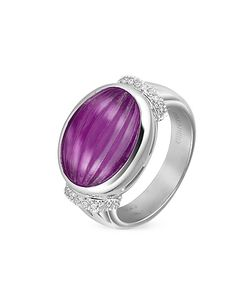 Roma Imperiale | Carved Amethyst And Diamond 18k Gold Ring