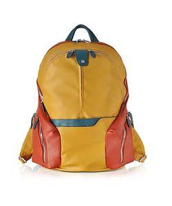 Piquadro | Nylon Leather Computer Backpack