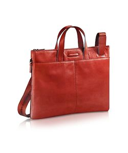Piquadro | Blue Square Expandable Leather Business Bag