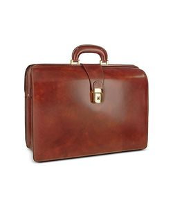 Pratesi | Mens Leather Doctor Bag Briefcase W/Interior Lighting