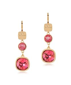 Rebecca | Candy 18 Kt Yellow Over Bronze Drop Earrings