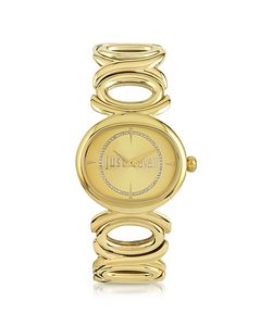 Just Cavalli | Double Jc 2h Champagne Dial Stainless Steel Womens Watch