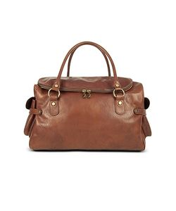Robe di Firenze | Large Pebbled Italian Leather Carryall Bag