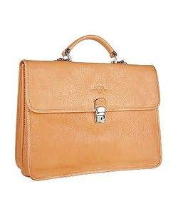 Robe di Firenze | Mens Double-Gusset Soft Leather Briefcase