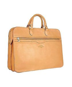 Robe di Firenze | Womens Double-Gusset Soft Leather Briefcase