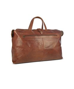 Robe di Firenze | Large Brown Italian Leather Carry All Travel Bag
