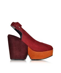 Robert Clergerie | Dylanal Color Block Suede Wedge Sandal