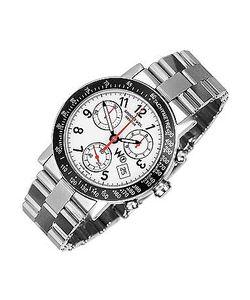 Raymond Weil | W1 White Stainless Steel Chronograph Watch W/ Tachymetre