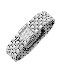 Raymond Weil   Ladies Diamond Pave Dial Stainless Steel Watch