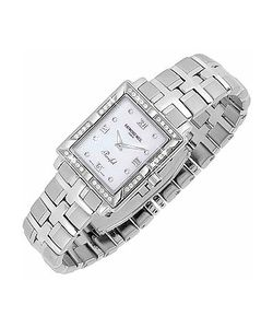 Raymond Weil   Parsifal Ladies Diamond Frame Mother Of Pearl Date Watch