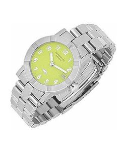 Raymond Weil   Parsifal W1 Womens Lime Dial Stainless Steel Date Watch