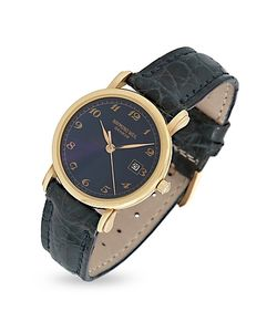 Raymond Weil   Dial 18k Gold And Croco Leather Dress Watch
