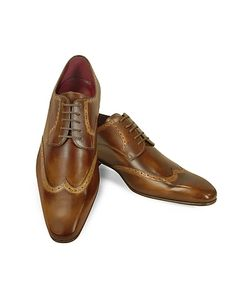 Fratelli Borgioli | Handmade Light Italian Leather Wingtip Dress Shoes