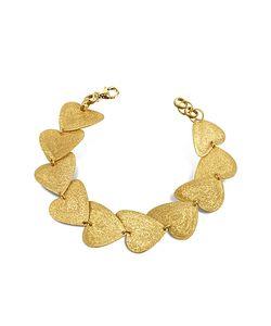 Stefano Patriarchi | Etched Golden Heart Link Bracelet