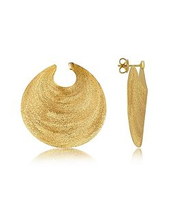 Stefano Patriarchi | En Silver Etched Round Shield Drop Earrings