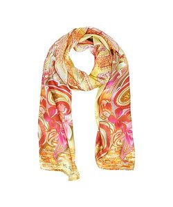 Mila Schon | Flowers And Paisley Print Silk Stole