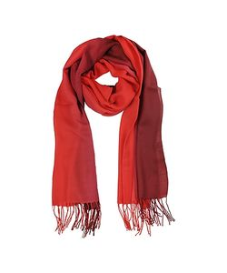 Mila Schon | Gradient /Red Wool And Cashmere Stole