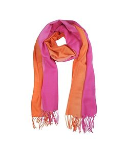 Mila Schon | Gradient /Coral Wool And Cashmere Stole