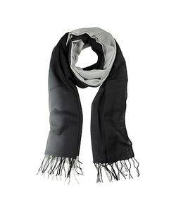 Mila Schon | Gradient /Gray Wool And Cashmere Stole
