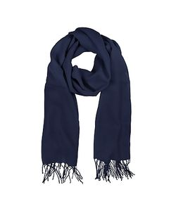 Mila Schon | Midnight Blue Wool And Cashmere Stole