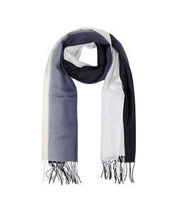 Mila Schon | Gradient /Dark Blue Wool And Cashmere Fringed Stole