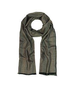 Mila Schon | Stripe Wooden Fiber Fringed Long Scarf