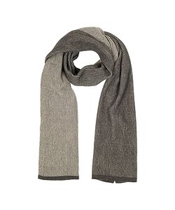 Mila Schon | /Brown Stripe Wool Blend Long Scarf