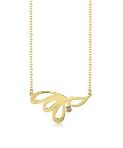 Sho London   Yellow Vermeil Mari Splash Necklace