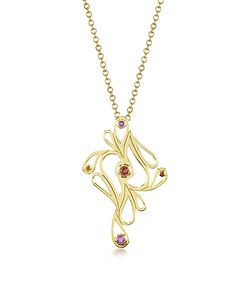 Sho London   Vermeil Mari Splash Pendant Necklace