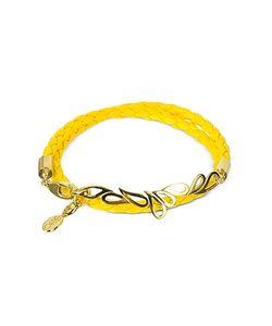 Sho London   Mari Fiendship Silver Vermail Leather Double Bracelet