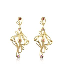 Sho London | Mari Splash Silver Vermeil Drop Earrings