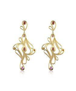 Sho London   Mari Splash Silver Vermeil Drop Earrings
