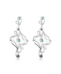 Sho London   Mari Splash Sterling Drop Earrings