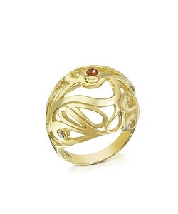 Sho London | Vermeil Mari Splash Boule Ring