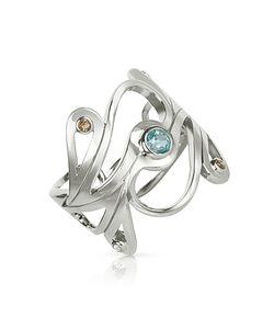 Sho London   Sterling Mari Splash Ring