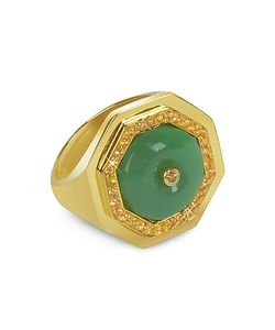 Sho London | Aventurine Clementina Ring