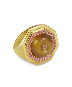Sho London | Tigers Eye Clementina Ring