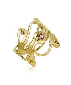 Sho London   Silver Vermeil Mari Splash Ring