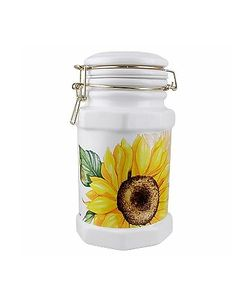 Spigarelli | Sunflower Airtight Seal Ceramic Canister